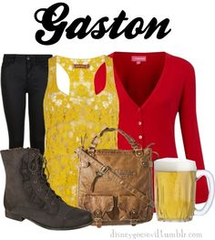 "disney villan polyvore | Gaston"" by disney-villains liked on Polyvore"
