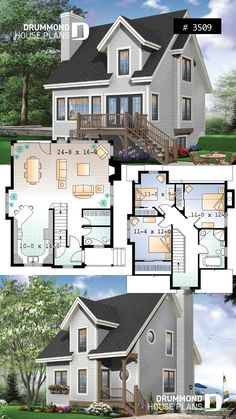 Source by drummondplans The post Affordable country house plan or 3 bedroom chalet open space fireplace panoramic views appeared first on My Art My Home. Affordable country house plan or 3 bedroom chalet open space fireplace panoramic views Sims 4 House Plans, Small House Floor Plans, Dream House Plans, Small House Plans Under 1000 Sq Ft, Casas The Sims 3, Drummond House Plans, Sims House Design, Plans Architecture, Country House Plans