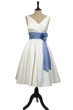 bridal, bridesmaid dress, cocktail dress or prom gown with corsage. 1950s Style, Bridesmaid Dresses With Sleeves, Bridesmaids, 1950s Fashion Dresses, Sister Wedding, Light Turquoise, Formal Dresses, Wedding Dresses, Black Tie