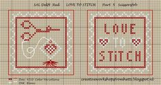 Creative Workshops from Hetti: SAL Delft Red Love To Stitch Part 5