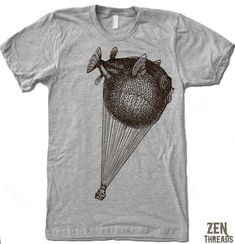Zen Threads Custom Printed BALLOON FISH design in eco-friendly ink. You choose the size and color! INK COLORS: Brown or Black. Mens Short Sleeve American Apparel Vintage Soft T-Shirt Made in the USA. Hand pressed in California. Cool Tees, Cool Shirts, Tee Shirts, Balloon Fish, Custom Screen Printing, Fishing T Shirts, Tee Design, Printed Tees, American Apparel