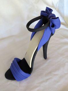 high heel cakes | My First Fondant High Heel Shoe – Christian Louboutin Fondant Shoe