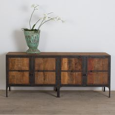 Reclaimed Wood & Metal Buffet