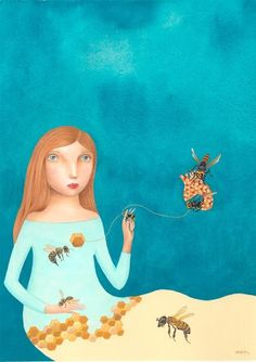 Her paintigs are like the most beautiful childhood dreams EVER! Check this post about them: http://ftrabbitstudios.blogspot.com/2017/04/childhood-dreams-turned-into-pantings.html?m=1  #illustration #childrensbooks #painting #fineart #artworks #marianeri #calming #artist #graphics #childhood #beautiful #amazing #blogger #blogging #artblog