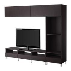 IKEA - BESTÅ, TV-Möbel, Kombination, Vara schwarzbraun,