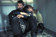 Luc Besson and Anne Parillaud on the set of La Femme Nikita