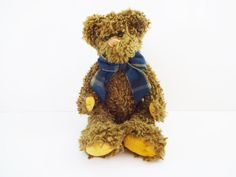 Vintage Dark Brown Teddy Bear Stuffed Animal by LeVieuxSalon