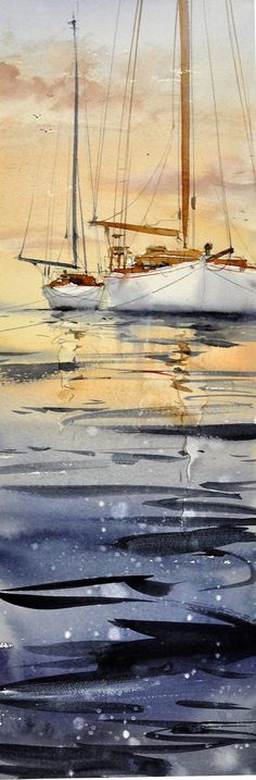Anders Andersson. a beautiful example of boats and rigging and reflected light.