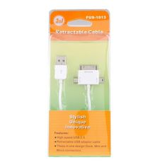 3 in 1 USB to Mini USB/Micro USB/iPhone iPod Sync Data Charging Cable US$3.99