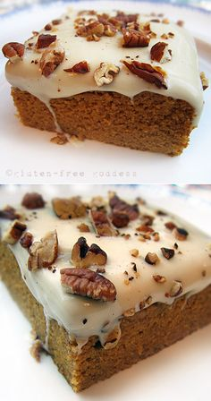Gluten-Free Goddess Recipes: Gluten-Free Pumpkin Cake with Maple Icing #pumpkin #cake #glutenfree