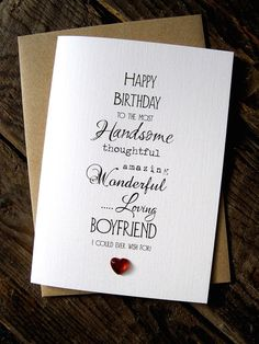 Designer Typography Birthday Card Size A6 15x105cm Wife Husband Boyfriend Gifts
