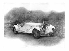 My dedication draw to 1929 Mercedes-Benz SS Kompressor.