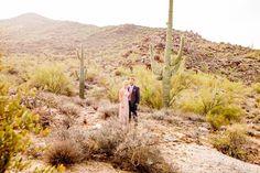 Post wedding ceremony photos in the Cave Creek Chapel's desert scene!