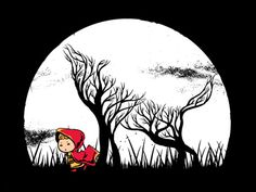 Little Red Riding Hood and Wolf illustration