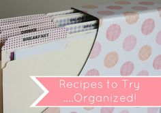 Great system for organizing magazine and printed recipes.