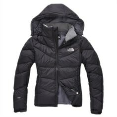 Women North Face Down Jacket Black