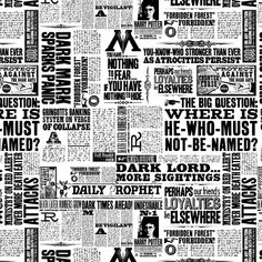 Today's listing is for one yard of the fabric pictured. It is by Camelot Cotton and is from the Harry Potter Collection. It features news articles all about Harry Potter done in black print on a white background. Tissu Harry Potter, Harry Potter Fabric, Harry Potter Newspaper, Harry Potter Books, Collection Harry Potter, Newspaper Background, Background Images, Imprimibles Harry Potter, Ministry Of Magic
