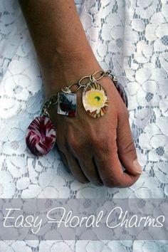 DIY Botanical Print Bracelet created with Mod Podge, and dimensional magic. #crafts #modpodge #bracelets