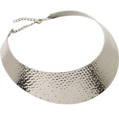 Rock 'N Rose Aphra Textured Collar Necklace in Silver (28 CAD) ❤ liked on Polyvore featuring jewelry, necklaces, accessories, collares, silver cuff necklace, silver tribal jewellery, silver tribal necklace, polish jewelry and collar necklaces