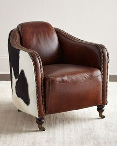 Ramona+Leather+Club+Chair+by+Regina-Andrew+Design+at+Neiman+Marcus.