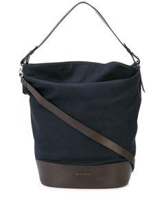 WANT Les Essentiels Cambria xl shoulder tote - Blue Shoulder Strap, Shoulder Bags, Logo Stamp, Embossed Logo, World Of Fashion, Luxury Branding, Women Wear, Tote Bag, Navy