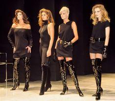Stephanie Seymour, Cindy Crawford, Linda Evangelista, Karen Mulder  for Gianni Versace (1991)