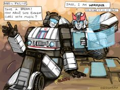 Prowl how can you even say no to that ?! Just look at him !! I'd give my soul to even spend a few moments with Jazz !!