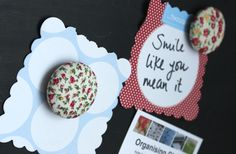 Make your own magnets - Organising Chaos Make Your Own, How To Make, Office Organization, Organising, Magnets, Busy Life, Desserts, Blog, Crafts