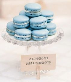 Elegant & Lush Vintage Bloom Baby Shower blue macarons and other fancy boy shower ideas Cupcakes, Macaron Bleu, French Macaron, Blue Macaroons, Almond Macaroons, Macaroons Wedding, Bloom Baby, Elegant Baby Shower, Profiteroles