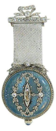 Victorian lapel watch | Van Cleef & Arpels | via Lovers of Blue and White