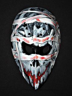 hockey goalie helmets   Fiberglass NHL ice air roller hockey goalie mask helmet The mummy HO52