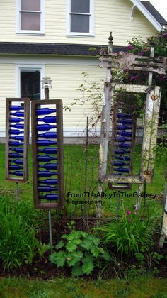 From The Alley To The Gallery: Blue! BLue!! and more BLUE!!!  Plans 4 sale:  http://www.etsy.com/listing/157805294/plans-to-make-blue-bottle-ladder?ref=af_shop_favitem