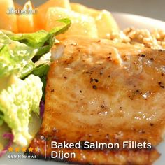 Baked Salmon Fillets Dijon from Allrecipes.com #myplate #protein