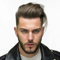 Bring out your inner rock and roll bad guy with a classic pompadour hairstyles, with sleek or messy options for all hair textures and personalities! Pompadour Hairstyle, Undercut Hairstyles, Cool Hairstyles, Medium Hair Styles, Long Hair Styles, Beard Growth Oil, Beard Balm, Moustaches, New Hair Colors