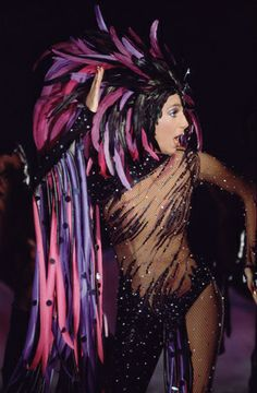 """Cher from The Cher show - """"Witchy Woman"""", in an amazing Bob Mackie costume!"""