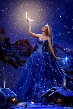 Fairy of Dreams Beautiful Fantasy Art, Beautiful Moon, Beautiful Fairies, Fairy Pictures, Angel Pictures, Free Pictures, Gif Bonito, Good Night Gif, Good Night Sweet Dreams