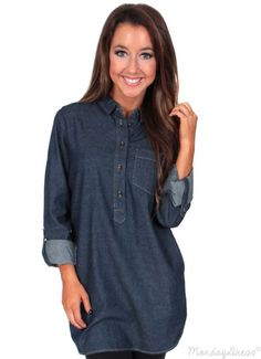 Love Myself Chambray Tunic | Monday Dress Boutique