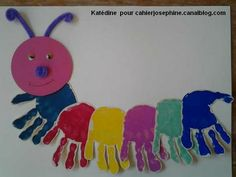 Caterpillar craft idea for kids Toddler Art, Toddler Crafts, Toddler Activities, Bug Crafts, Preschool Crafts, Paper Crafts, Diy For Kids, Crafts For Kids, Arts And Crafts