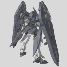 """GNX-607T/BW GN-XII Duel Cannon (aka GN-XII Cannon, pronounced """"Jinx Two Cannon"""") is the second variation model of the GN-XII series. It is featured in the side-story manga Mobile Suit Gundam 00F. Back"""