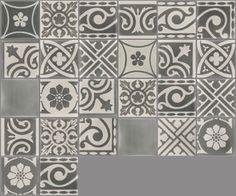 Carrelage imitation carreau de ciment gris ancien d cor gr s 20x20 cm twentie - Carreaux ciment patchwork ...