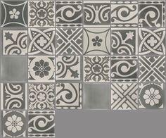 Carreaux de ciment - Les patchworks - Carreau PW 25 - Couleurs & Matières