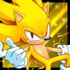 Sonic the Hedgehog - Super Sonic...Oh my gosh. *Mouth drops open* This is AMAZING artwork!