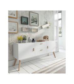 Mueble auxiliar. Llena de estilo tu hogar. Aparadores de estilo nórdico modelo W-900. Gran capacidad de almacenaje.