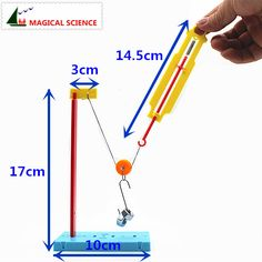 MAGICAL SCIENCE homemade Pulley dynamometer DIY materials,home school educational kit,Fixed & Moving pulley experiments