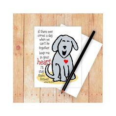 Dog Sympathy Card Pet Sympathy Card Dog Memorial by GoingPlaces2