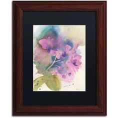 Trademark Fine Art Orchid Dream Canvas Art by Sheila Golden Black Matte, Wood Frame, Size: 11 x 14, Multicolor