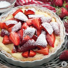 Sweets Recipes, Desserts, Greek Sweets, Fruit Pie, Greek Recipes, Almond, Strawberry, Food And Drink, Favorite Recipes