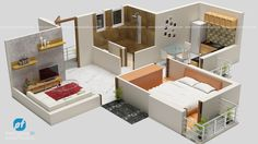 Check Out This Beautiful 3D Floor plan view done by Pixel fountain 3D team.