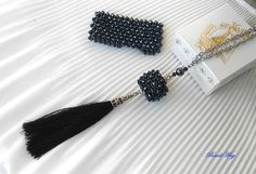 Necklace Modern/Necklace of beads/ Necklace black/Collana di