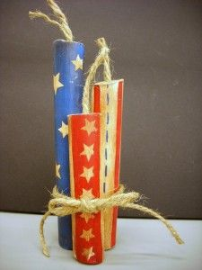 4th of July Craft - Hand Painted Wood Fireworks - Vicki ODell... The Creative Goddess